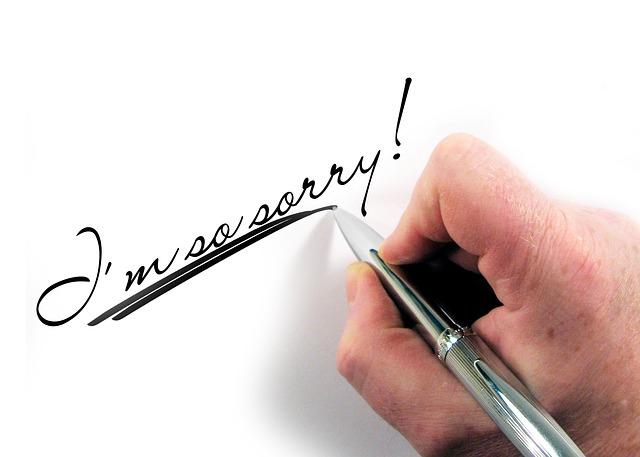 Schule die schreiben für entschuldigung Entschuldigung für